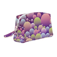 Abstract Background Circle Bubbles Wristlet Pouch Bag (medium)