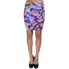 Abstract Background Circle Bubbles Space Bodycon Skirt