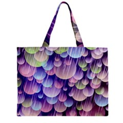 Abstract Background Circle Bubbles Space Mini Tote Bag