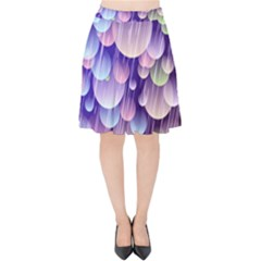 Abstract Background Circle Bubbles Space Velvet High Waist Skirt by HermanTelo