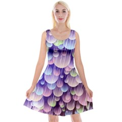 Abstract Background Circle Bubbles Space Reversible Velvet Sleeveless Dress by HermanTelo