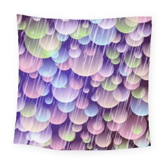 Abstract Background Circle Bubbles Space Square Tapestry (large)