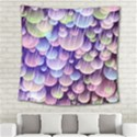 Abstract Background Circle Bubbles Space Square Tapestry (Large) View2