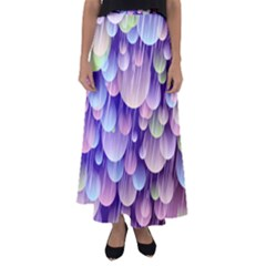 Abstract Background Circle Bubbles Space Flared Maxi Skirt