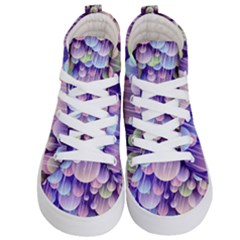 Abstract Background Circle Bubbles Space Kids  Hi Top Skate Sneakers