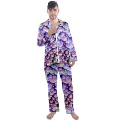 Abstract Background Circle Bubbles Space Men s Satin Pajamas Long Pants Set by HermanTelo