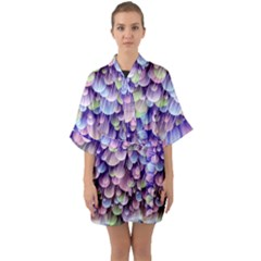 Abstract Background Circle Bubbles Space Quarter Sleeve Kimono Robe by HermanTelo