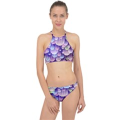 Abstract Background Circle Bubbles Space Racer Front Bikini Set