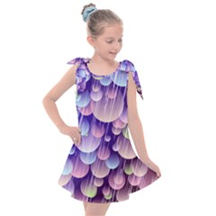 Abstract Background Circle Bubbles Space Kids  Tie Up Tunic Dress
