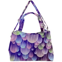 Abstract Background Circle Bubbles Space Double Compartment Shoulder Bag