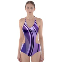 Circle Concentric Render Metal Cut-out One Piece Swimsuit