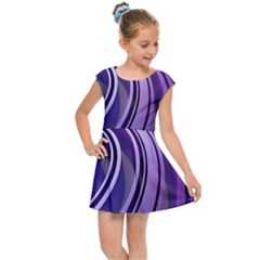 Circle Concentric Render Metal Kids  Cap Sleeve Dress