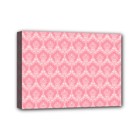 Damask Floral Design Seamless Mini Canvas 7  X 5  (stretched) by HermanTelo