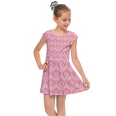 Damask Floral Design Seamless Kids  Cap Sleeve Dress by HermanTelo