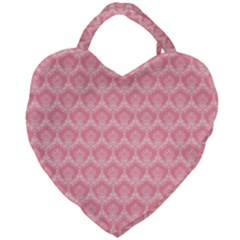 Damask Floral Design Seamless Giant Heart Shaped Tote