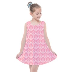 Damask Floral Design Seamless Kids  Summer Dress by HermanTelo