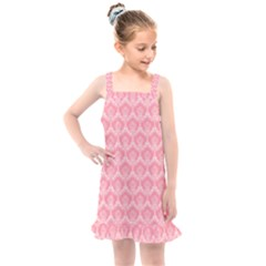 Damask Floral Design Seamless Kids  Overall Dress by HermanTelo