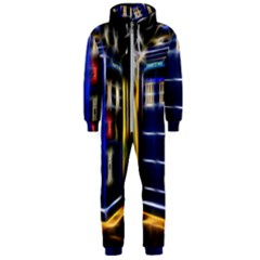 Famous Blue Police Box Hooded Jumpsuit (men)  by HermanTelo