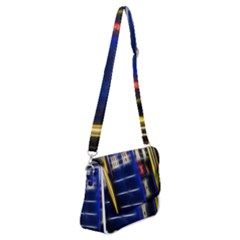 Famous Blue Police Box Shoulder Bag With Back Zipper by HermanTelo