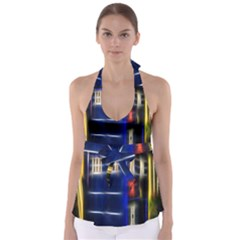 Famous Blue Police Box Babydoll Tankini Top by HermanTelo