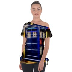 Famous Blue Police Box Tie Up Tee by HermanTelo