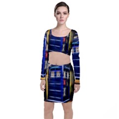 Famous Blue Police Box Top And Skirt Sets by HermanTelo