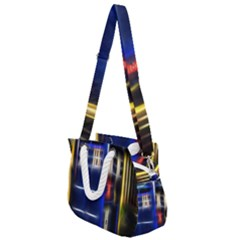 Famous Blue Police Box Rope Handles Shoulder Strap Bag by HermanTelo