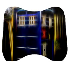 Famous Blue Police Box Velour Head Support Cushion