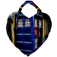 Famous Blue Police Box Giant Heart Shaped Tote