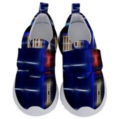 Famous Blue Police Box Kids  Velcro No Lace Shoes by HermanTelo