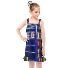 Famous Blue Police Box Kids  Overall Dress by HermanTelo