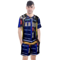 Famous Blue Police Box Men s Mesh Tee And Shorts Set by HermanTelo