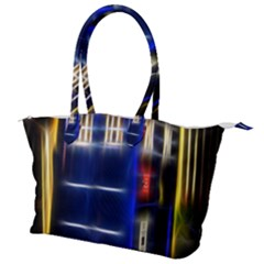 Famous Blue Police Box Canvas Shoulder Bag by HermanTelo