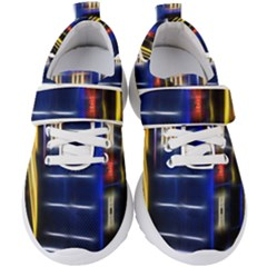 Famous Blue Police Box Kids  Velcro Strap Shoes by HermanTelo