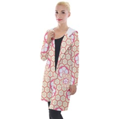 Floral Design Seamless Wallpaper Hooded Pocket Cardigan by HermanTelo