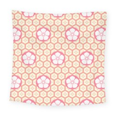 Floral Design Seamless Wallpaper Square Tapestry (large) by HermanTelo