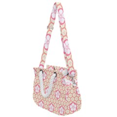 Floral Design Seamless Wallpaper Rope Handles Shoulder Strap Bag by HermanTelo