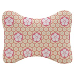Floral Design Seamless Wallpaper Velour Seat Head Rest Cushion by HermanTelo