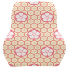 Floral Design Seamless Wallpaper Car Seat Back Cushion