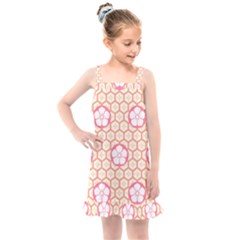 Floral Design Seamless Wallpaper Kids  Overall Dress by HermanTelo