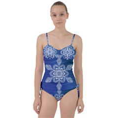 Flake Crystal Snow Winter Ice Sweetheart Tankini Set by HermanTelo