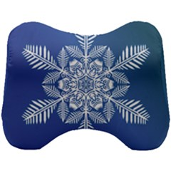 Flake Crystal Snow Winter Ice Head Support Cushion