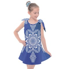 Flake Crystal Snow Winter Ice Kids  Tie Up Tunic Dress by HermanTelo