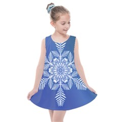 Flake Crystal Snow Winter Ice Kids  Summer Dress by HermanTelo