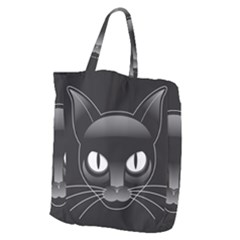 Grey Eyes Kitty Cat Giant Grocery Tote