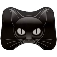 Grey Eyes Kitty Cat Head Support Cushion