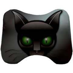 Green Eyes Kitty Cat Head Support Cushion