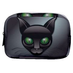Green Eyes Kitty Cat Make Up Pouch (small)