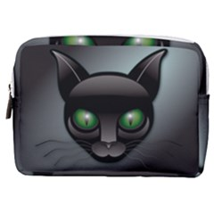 Green Eyes Kitty Cat Make Up Pouch (medium) by HermanTelo
