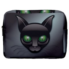 Green Eyes Kitty Cat Make Up Pouch (large)
